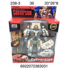 238-3 Робот Трансформер Conversion свет звук 36 шт в кор.