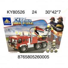 KY80526 Конструктор Пожарная машина 256 дет., 24 шт. в кор.