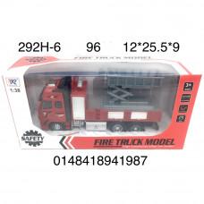 292H-6 Пожарная машина (инерция), 96 шт. в кор.