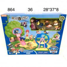 864 Собачки Детская площадка набор, 36 шт. в кор.