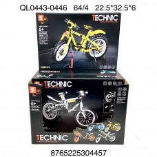 QL0443-0446 Конструктор Техник мотоцикл 4 шт в блоке, 16 блоке. в кор.