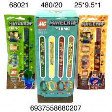 68021 Браслеты Герои из кубиков 20 шт в блоке, 24 блоке. в кор.