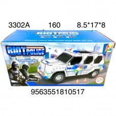 3302A Машинка на батарейках Полиция свет звук, 160 шт в кор.