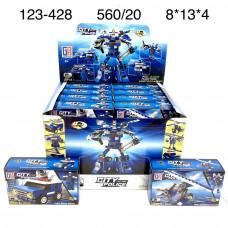 123-428 Конструктор Робот полиция 20 шт. в блоке,28 блока . в кор.