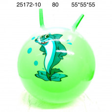 25172-10 Мяч прыгун с рожками, 80 шт. в кор.