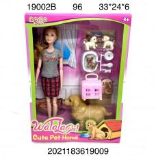 19002B Кукла с собачками 96 шт в кор.