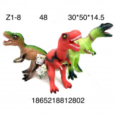 Z1-8 Динозавр резиновый, звук, 48 шт в кор.