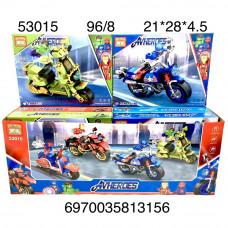 53015 Конструктор Супергерои на мотоциклах 8 шт в блоке, 12 ,блока в кор.