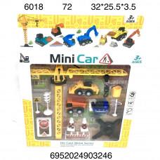 6018 Набор строителя миникар 72 шт в кор.