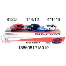 812D Модельки спорткар (металл) 12 шт. в блоке,12 блока  в кор.