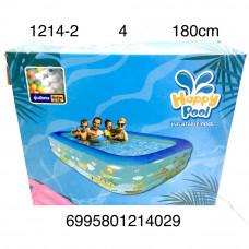 1214-2 надувной бассейн 180см, 4 шт. в кор.
