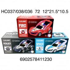 HC037/038/036 Машинка на батарейках свет звук 72 шт в кор.