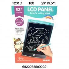 """1201C Электронный планшет для рисования 12"""" 100 шт в кор."""