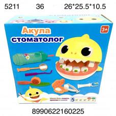 """5211 Набор для лепкки """"Акула стоматолог"""", 36 шт. в кор."""