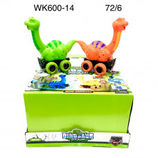 WK600-14 Динозавр на колёсах (свет, звук) 6 шт. в блоке, 12 блоке. в кор.