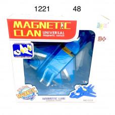 1221 Самолёт магнитный, свет звук.  48 шт в кор.
