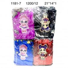1181-7 Сумочки Кукла в шаре 12 шт. в блоке,100 блоке. в кор.