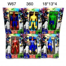 W67 Игрушка тянучка антистрес Супергерои, 360 шт. в кор.