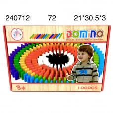 240712 Домино (дерево) 100 дет., 72 шт. в кор.