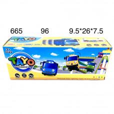 665 Игровой набор Автобус тайо (свет, звук), 96 шт. в кор.